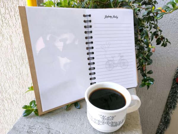 cuaderno agenda ambientado tapa MDF en corte láser en imprinco